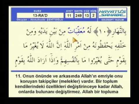 Fatih Çollak - 248.Sayfa - Ra'd Suresi (1-5)