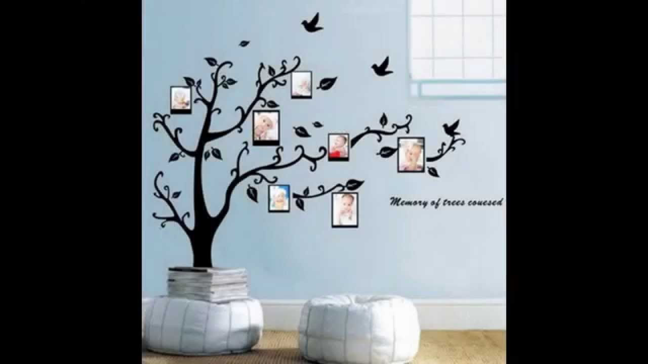 Virtul Photo Frame Black Tree Removable Decal Room Wall Sticker Hot Home  Decor
