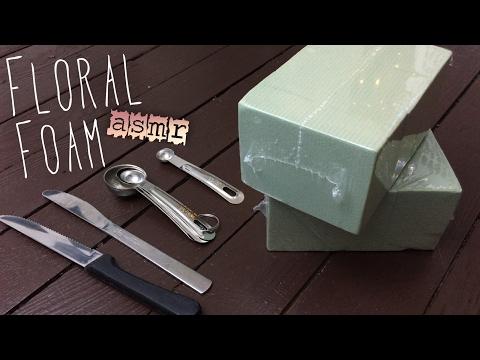 ASMR FLORAL FOAM PLAY | Crispy Crunchy Tingles