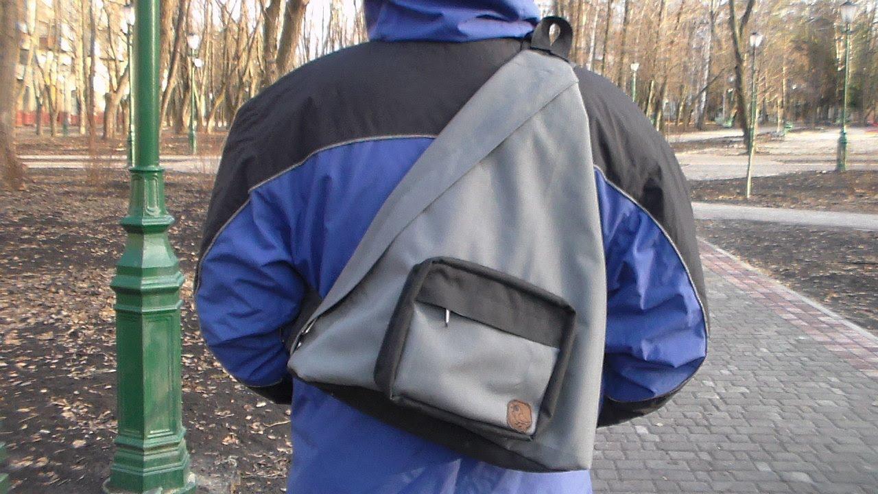Рюкзак сумка треугольный однолямочный рюкзаки happy people