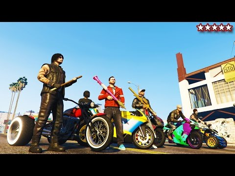 GTA 5 Online FREE-ROAMING With CRAZY PEOPLE - MAKING MONEY - BIKER GANGSTER LIFE GTA Funny Moments