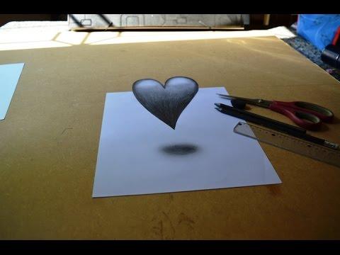Como Desenhar Um Coracao 3d Desenho Simples Passo A Passo Youtube
