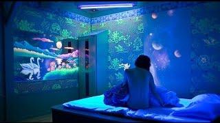 Флуоресцентная краска в интерьере.