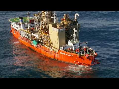 Advanced subsea diamnond mining vessel goes to work