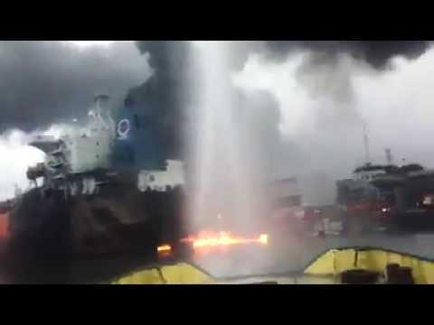 Fire Outbreak at Nigerian Port Authority Port Harcourt