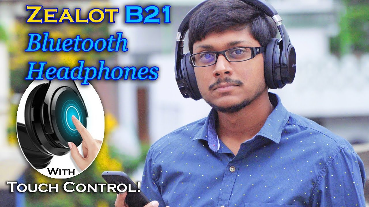 fa1ce429d75 Awesome Touch Control Bluetooth Headphones! Zealot B21 Review - YouTube