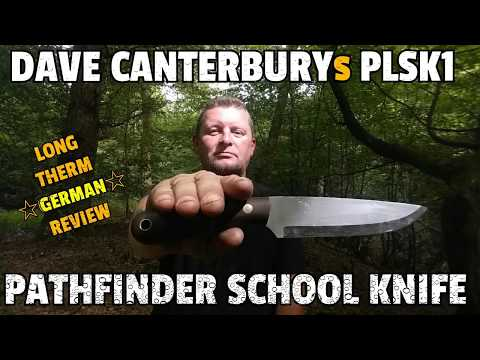 ✔ DAVE CANTERBURY PLSK1 ☆ Pathfinder  School Knife  ☆ Long Therm Review German ☆ Blind Horse Knives
