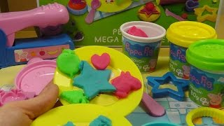 Peppa Pig Play Doh Mega Dough Kitchen Food  Set Shapes Toys Fruit Cookies Cooking