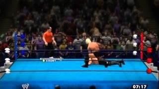 XBOX360版 WWE'13 のLive対戦 プロレスゲームでプロレスごっこ レフで観...