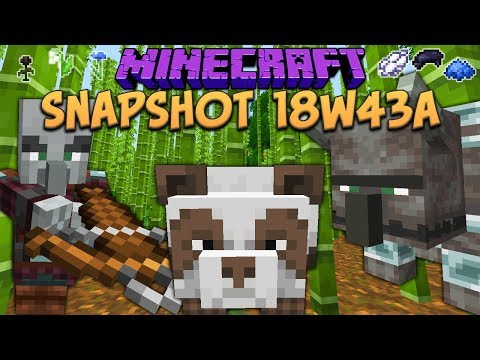Minecraft 1.14 Snapshot 18w43a Village And Pillage Update! Loom, Pandas, Bamboo & Crossbow! thumbnail