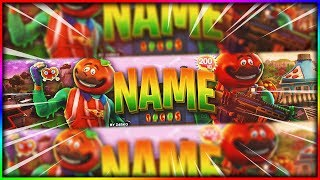 [FREE] BANNER TEMPLATE FORTNITE TOMATOHEAD (TOMATO TOWN)