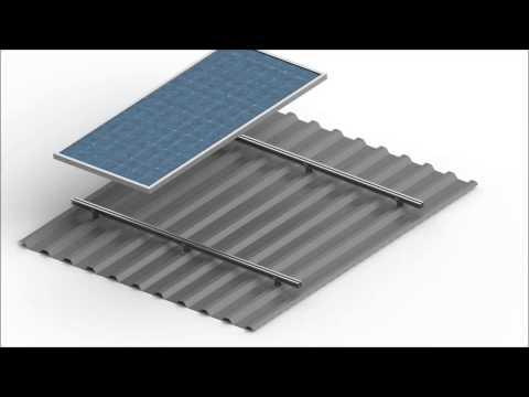 Constructiefilm montagevoet staaldak Solar Construct Nederland