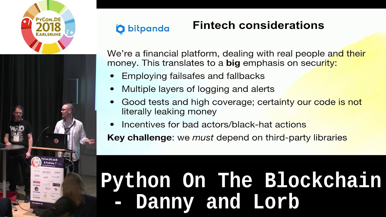 Image from Python on the blockchain: Triumphs and tribulations in a crypto startup