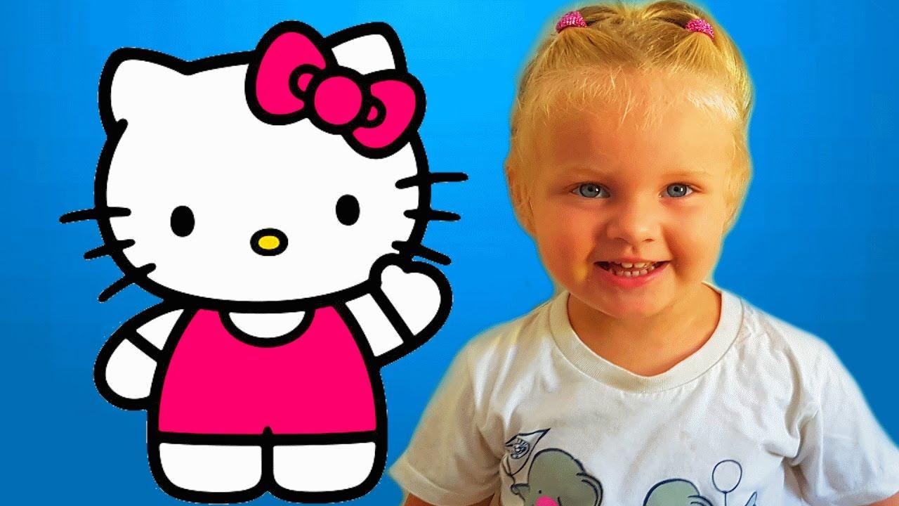 Hello Kitty игра как мультик для детей - YouTube