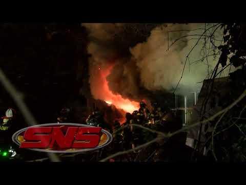 Firefighters Battle Raging house fire