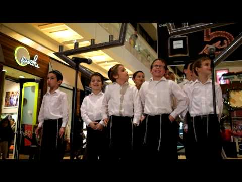Torah Day School boys choir at The Galleria menorah lighting