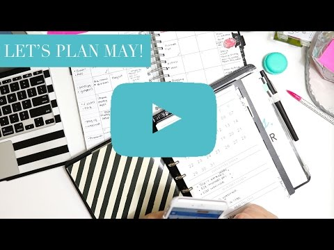 Plan with Me May | My Monthly Functional Planning Process