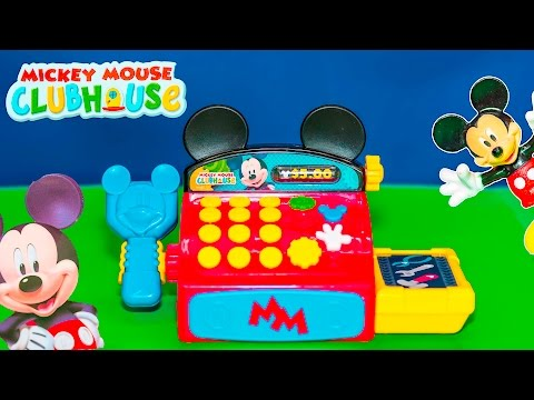 MICKEY MOUSE Clubhouse Disney Mickey Cash Register with Minnie and Donald Funny Unboxing Video