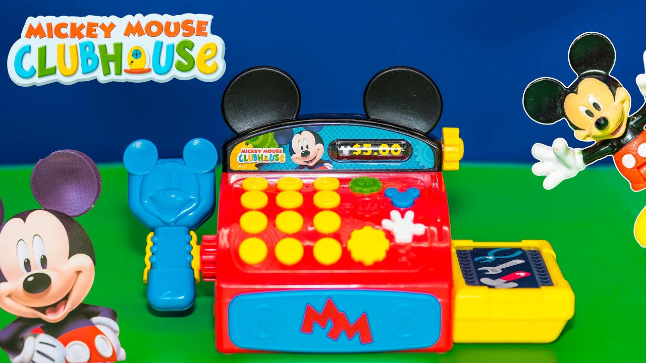 704d905769d4 Unboxing the Mickey Mouse Cash Register with Minnie Mouse Toys - YouTube