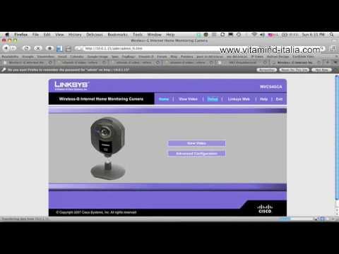 Installare una Telecamera IP UPnP Axis D-Link Linksys Panasonic