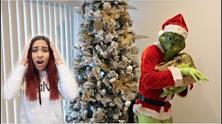THE GRINCH SCARE PRANK ON GIRLFRIEND!! *EPIC*