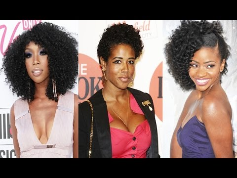 African American Natural Curly Hairstyle For Medium Hair