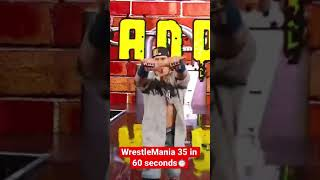 WrestleMania 35 in 60 seconds #Short
