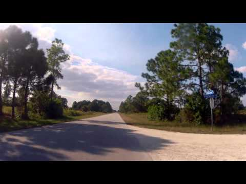 Bicycle Riding down scary streets of Lehigh Acres, Florida