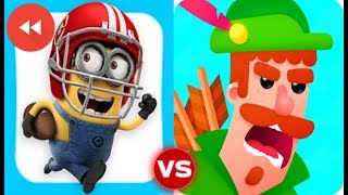 Despicable Me Minion Rush vs Bowmasters (Reverse)