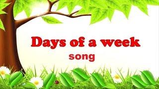 Разучивание песни про дни недели, сезоны.