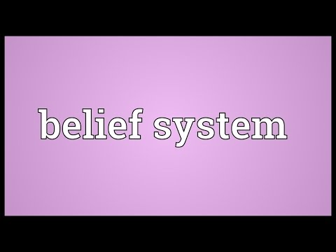 Belief system Meaning
