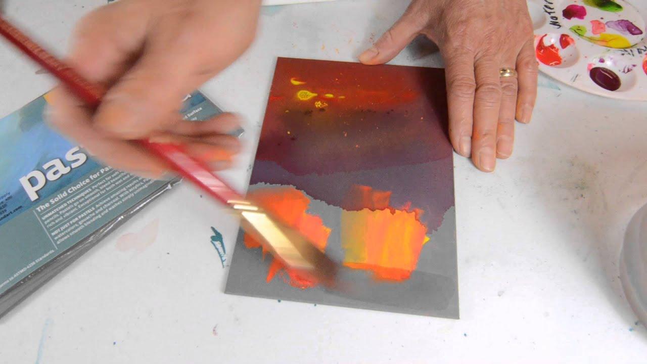 ampersand pastelbord pastel painting panel youtube