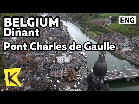 【K】Belgium Travel-Dinant[벨기에 여행-디낭]드골 다리/Pont Charles de Gaulle/Adolphe Sax/Saxophone Bridge/Meuse
