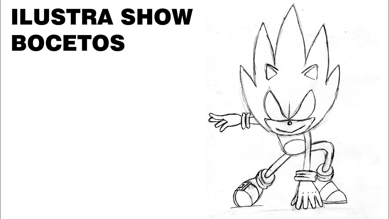 Cómo Dibujar A Sonic Dark Tutorial Ilustra Show