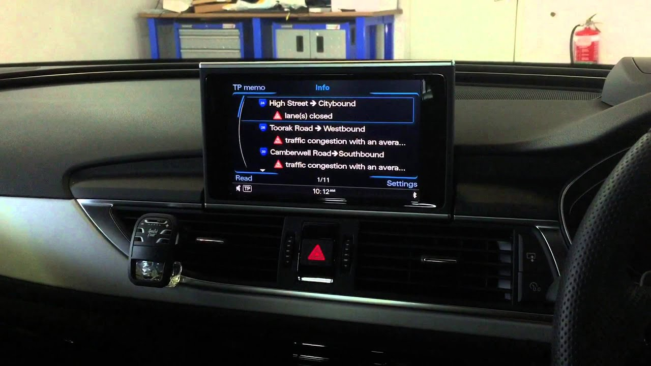 2014 Audi A6 4g Traffic Message Channel Tmc Aactivation For Mmi 3g Plus Youtube