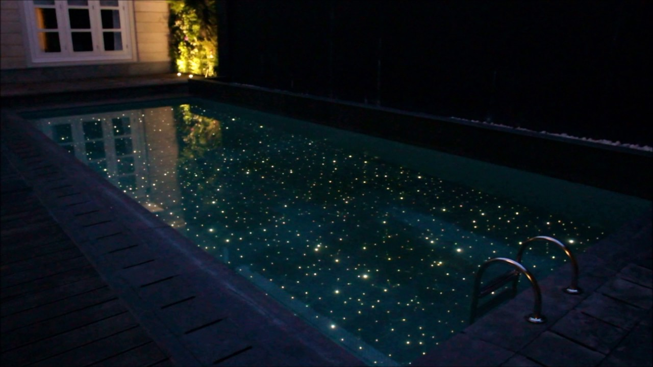 FIBER OPTIC LIGHTING SWIMMING POOL - YouTube