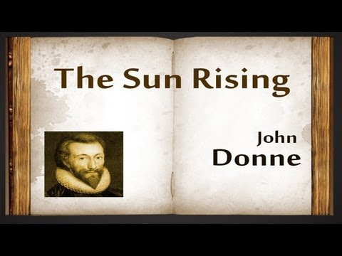 Metaphysical poet John Donne and SUN RISING by 6 net 2 jrf 13 set qualified professor.