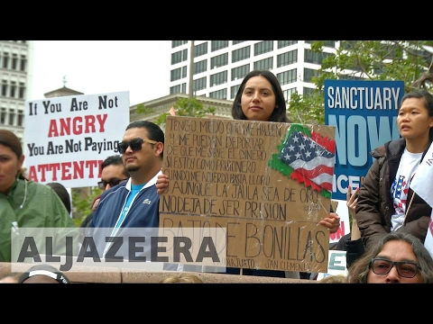 US: Thousands march against Trump ahead of President's Day