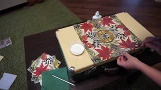 как  отремонтировать  чемодан  ..художественное  оформление