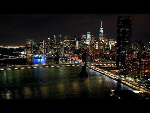 New York Skyline At Night Screensaver HD NYC Skyline, Long Island Aerial Landscapes Live