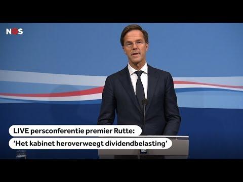 LIVE: Persconferentie premier Rutte, over besluit verhuizing Unilever