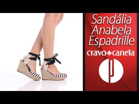 f4e82229a Sandália Anabela Espadrille Feminina Cravo & Canela - 6091371612 ...