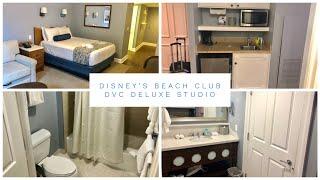 Disney's Beach Club Resort - DVC Deluxe Studio Room Tour