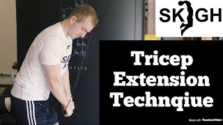Tricep Extension [SKIGH Training EP. 8]