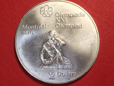 1974 Canada $5 Coin?  Well, Yes, Sort Of - The CANADA 1974 Olympic Canoeing Silver $5 Coin