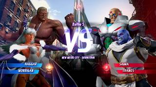 MARVEL VS. CAPCOM: INFINITE Haggar,Morrigan Requested Gameplay In Arcade Mode
