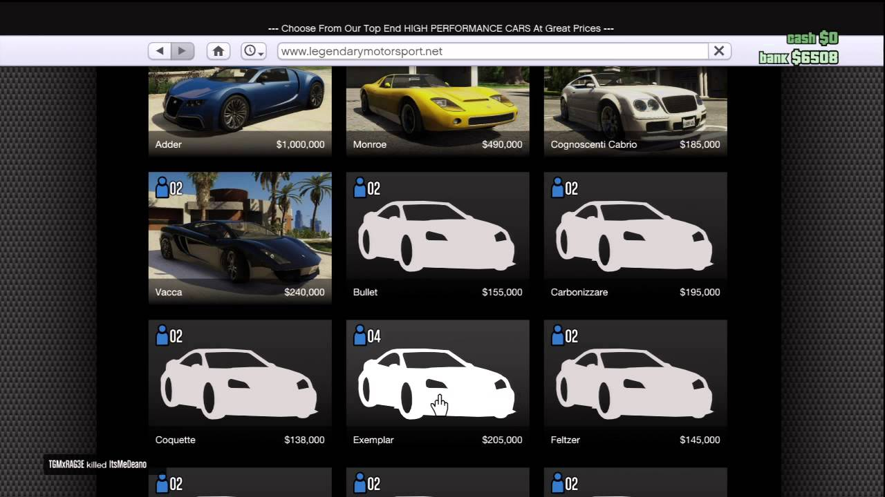 GTA 5 ONLINE MULTIPLAYER NEW CARS TO BUY! (HOW TO BUY CARS