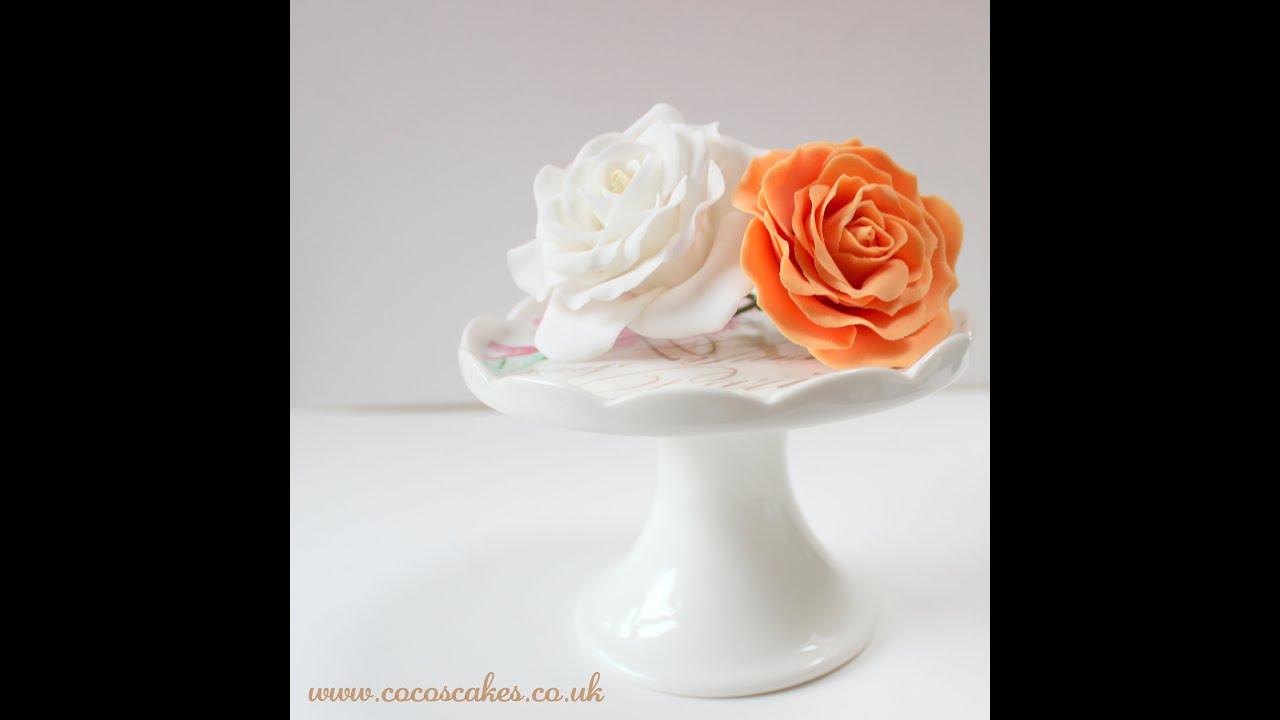 Tutorial - Make Gumpaste Rose Cake Decorating