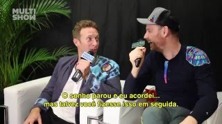 Chris Martin and Jonny Buckland on TVZ
