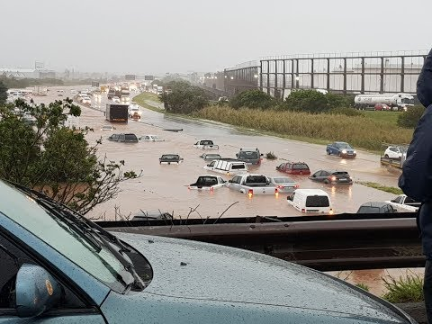 Severe weather in Durban floods the streets